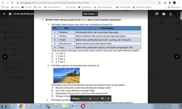 Soal UM IPS Kelas 6 Madrasah Ibtidaiyah
