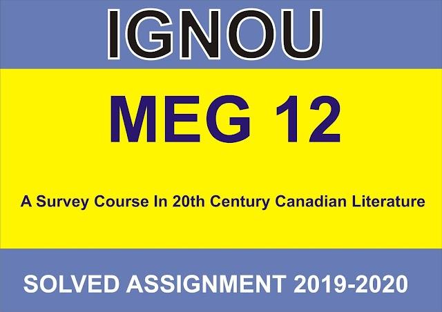 MEG 12 Solved Assignment 2020- 21
