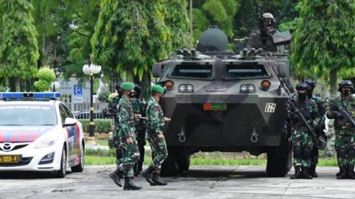 Apel Gelar Pasukan Jelang Kunker Presiden RI di wilayah Riau dan Kepri