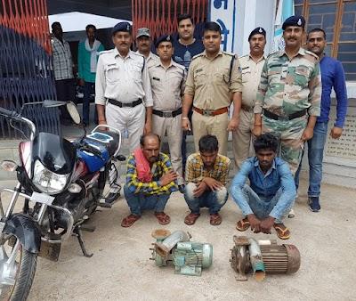सफलता : एसआई उमेश उपाध्याय ने चोरी के माल सहित तीन आरोपियों को किया गिरफ्तार | Dinara News