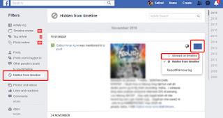 Cara Cara Untuk Memaparkan Semula Hidden Post FB