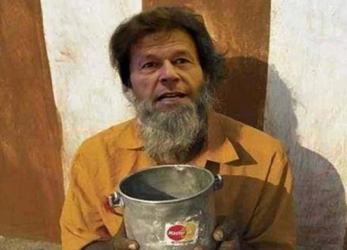Photograph of Pakistan Prime Minister Imran Khan seen on Google searching for 'beggars'!