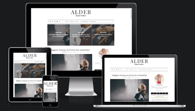 Alder premium blogger template free download