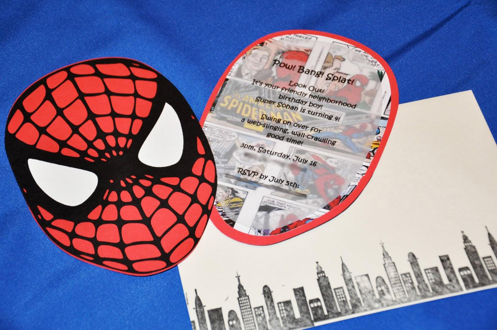 Sneak Peek Spiderman Party Invitations