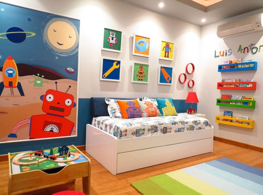 dekorasi kamar tidur anak laki minimalis