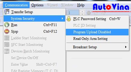Crack PLC Delta DVP14SS211R chống upload, PLC DVP14SS211T bị chống copy chương trình