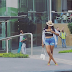 Angela Okorie flaunts curves in shorts and crop top