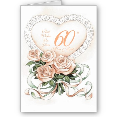 60th Wedding Anniversary Cards On Hy First Shirts