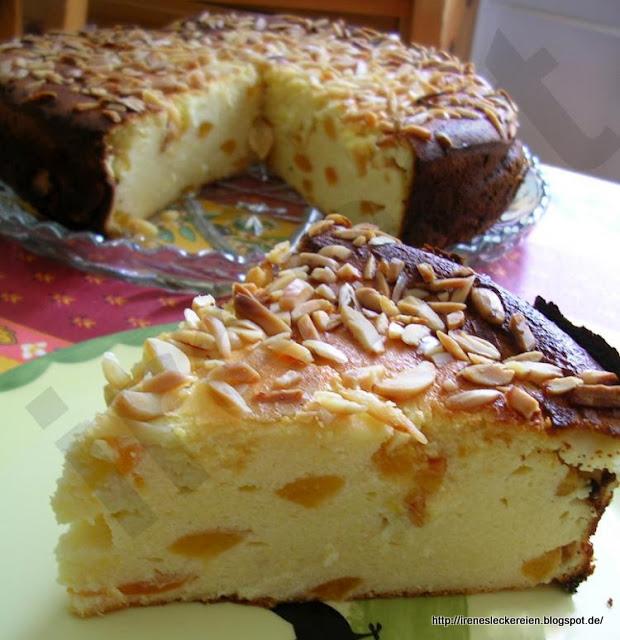 Irene S Leckereien Quark Aprikosen Kuchen Ohne Boden