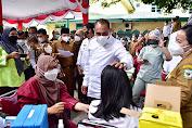 Pantau PTM Sekolah, Edy Rahmayadi Dorong Percepatan Vaksinasi Kalangan Pelajar