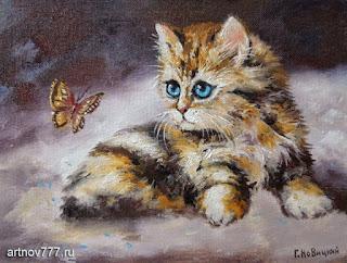 Серый-с-бабочкой-картина