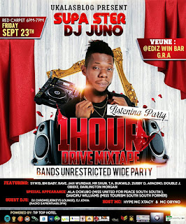 247Event: Dj Juno 1 Hour Drive Mixtape + Bands Unrestricted Wide Party holds in Portharcourt