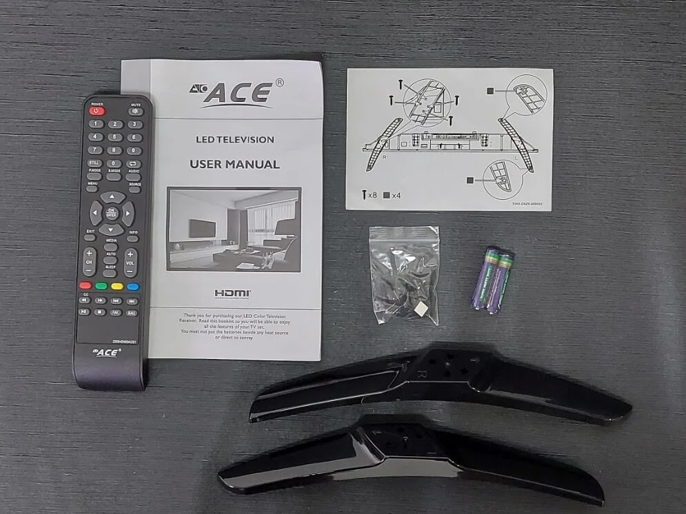 ACE 32-Inch Slim LED TV (LED-808 DN4) Retail Package