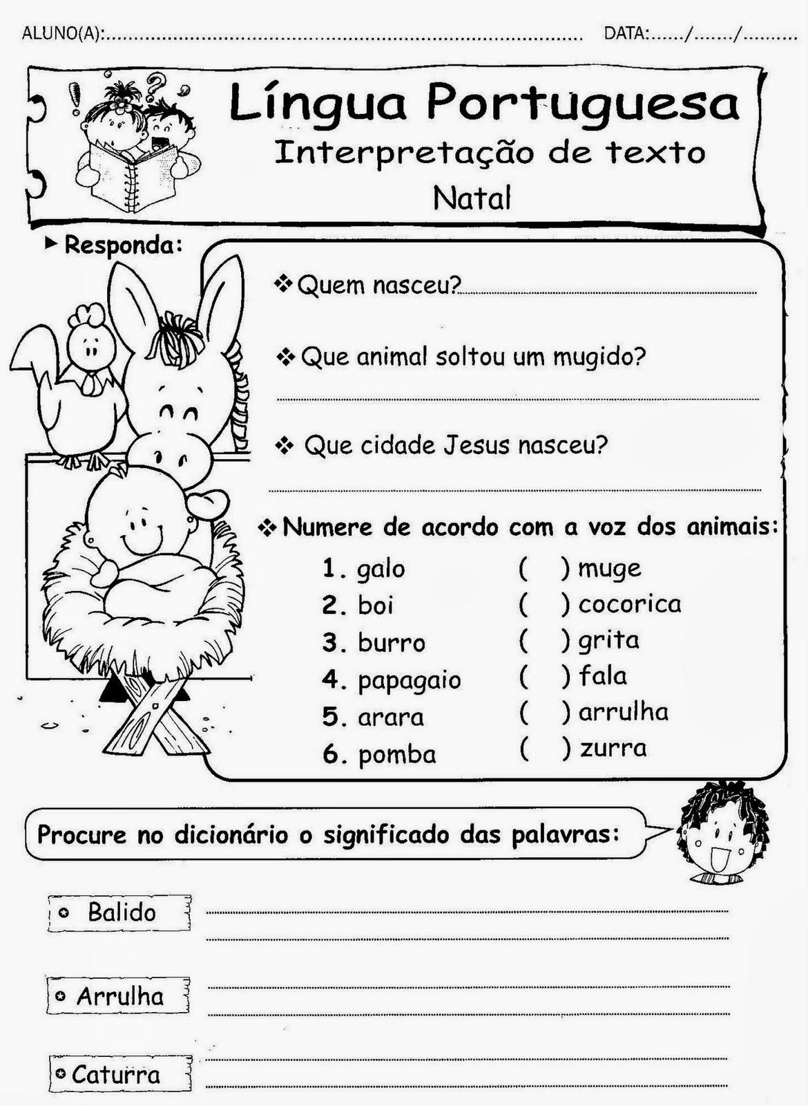 Atividades De Natal Textos Para Interpretacao So Escola