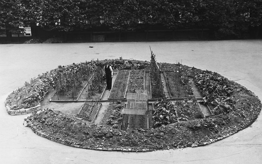 The Westminster Cathedral crater garden.