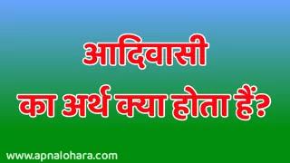 Aboriginal Meaning In Hindi, Tribal Hindi Meaning, Adivasi Ka Matlab,