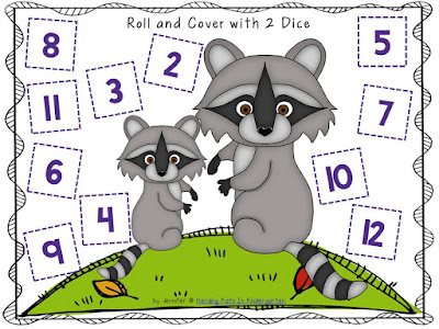 https://www.teacherspayteachers.com/Product/Raccoon-Themed-Roll-Cover-Number-Recogntion-Games-1909046