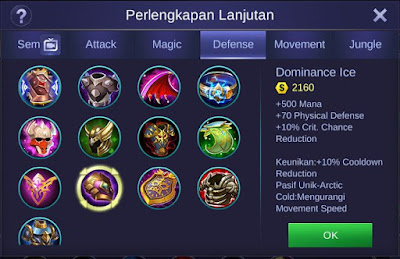 Dominance Ice Mobile Legends