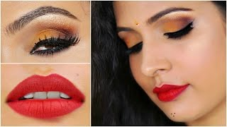 Yellow Party Makeup | GRWM – Navrattri | Indian Makeup