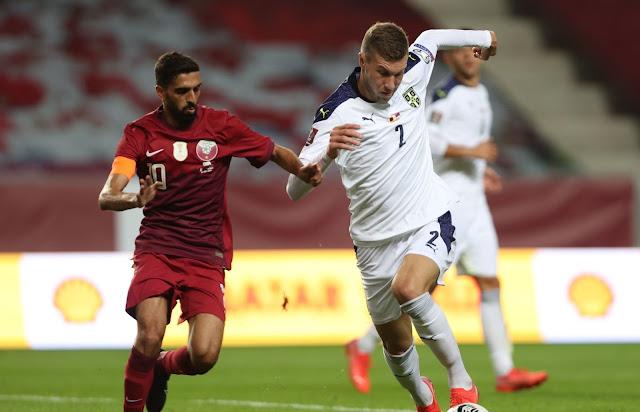 ملخص اهداف مباراة قطر وصربيا (0-4) تصفيات كأس العالم
