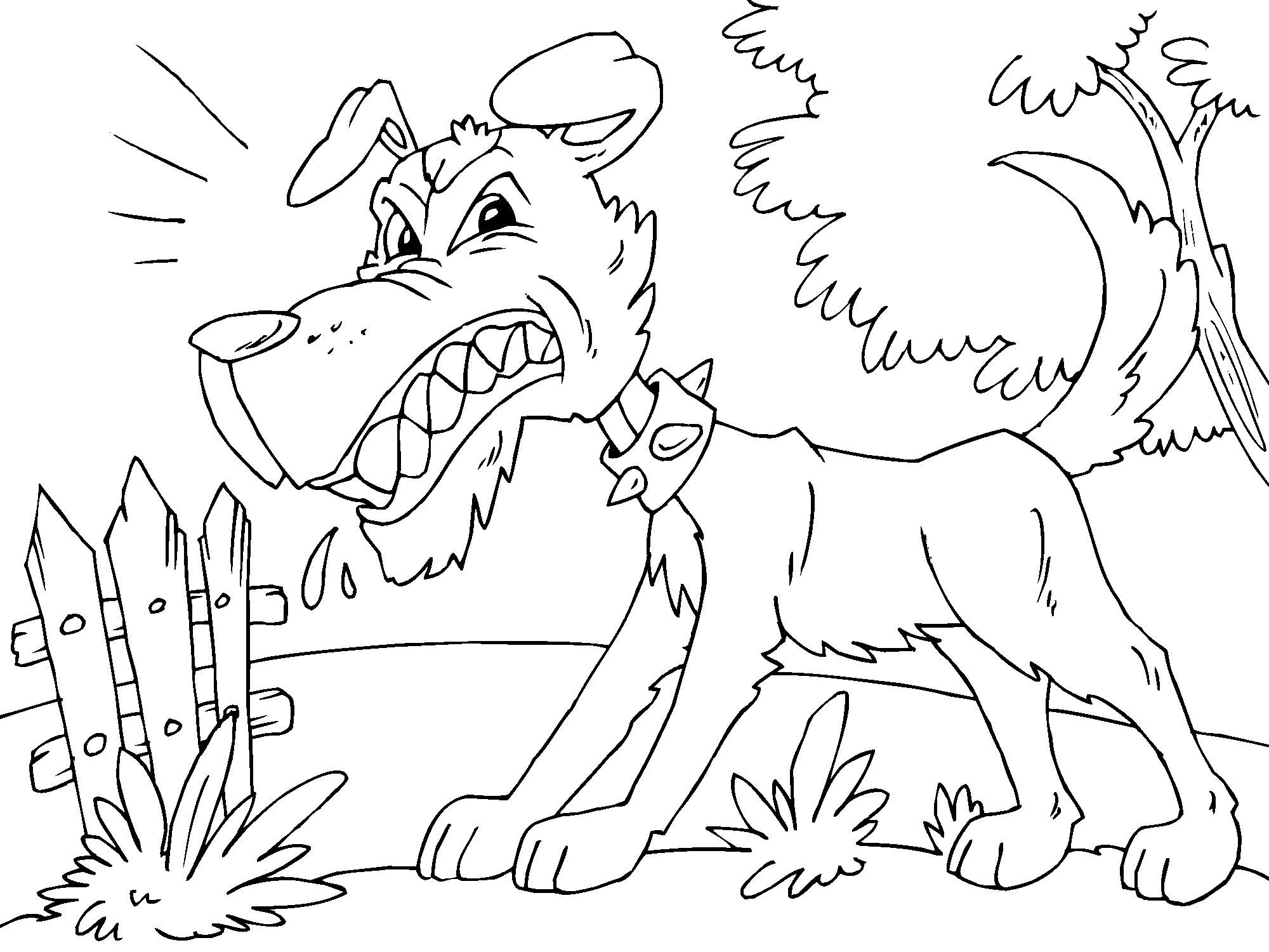 Dogs coloring pages 91
