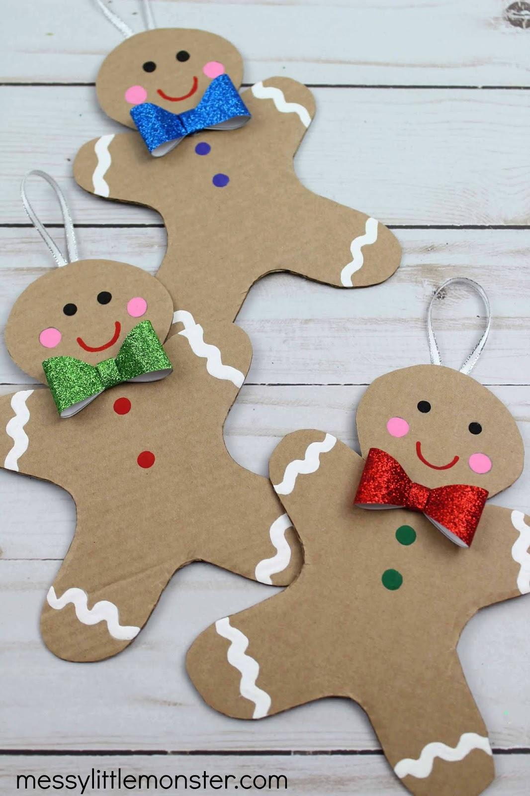 Cardboard Gingerbread Man Craft Template Included