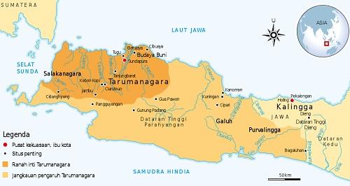 Letak Kerajaan Tarumanegara