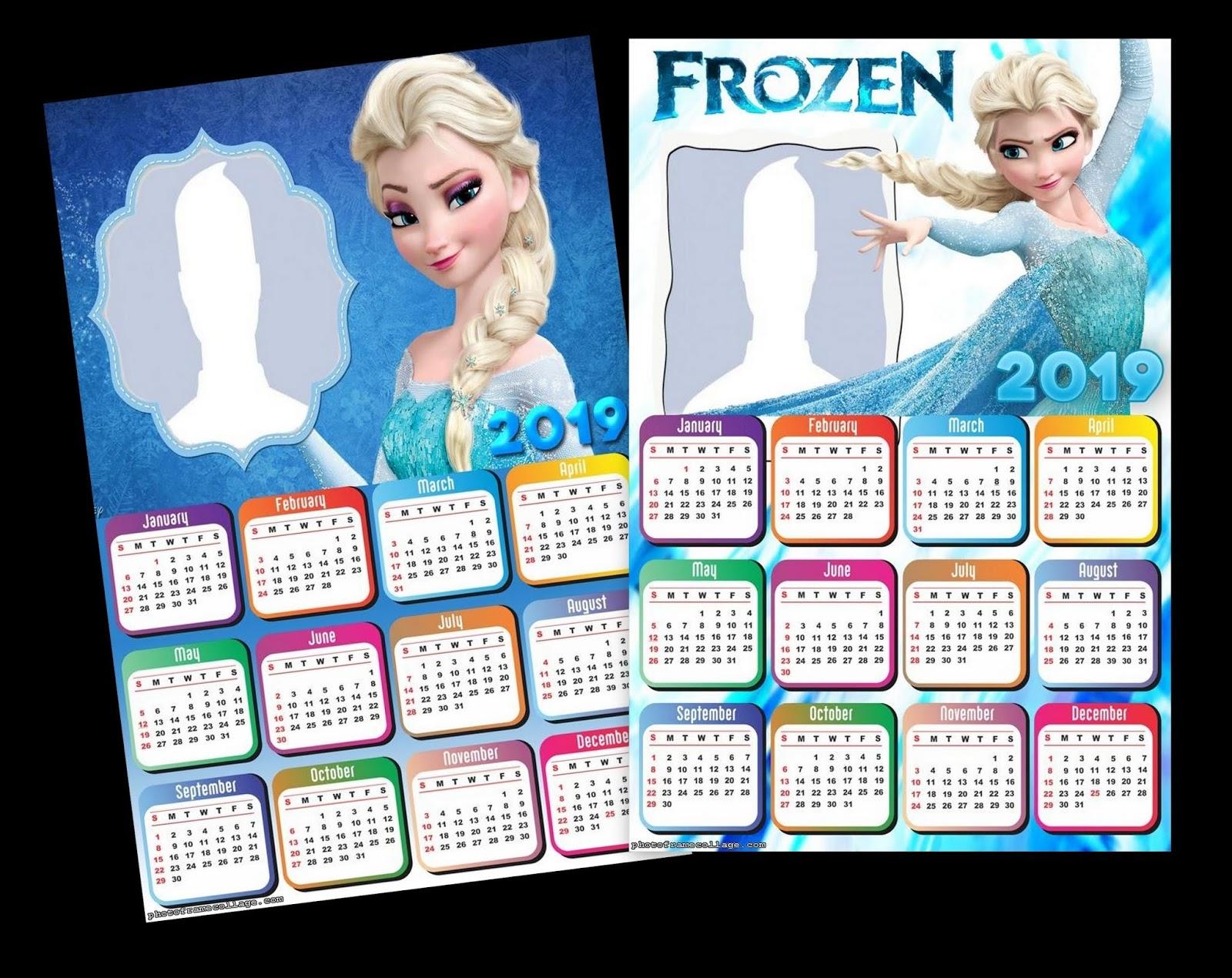 Calendario 2019 Disney Para Imprimir.Calendario 2019 De Elsa De Frozen Para Imprimir Gratis