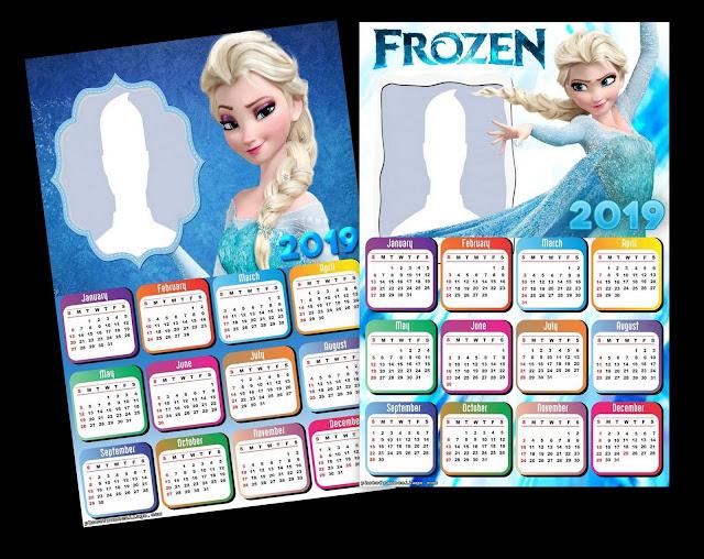 Elsa 2019 Free Printable Calendar.