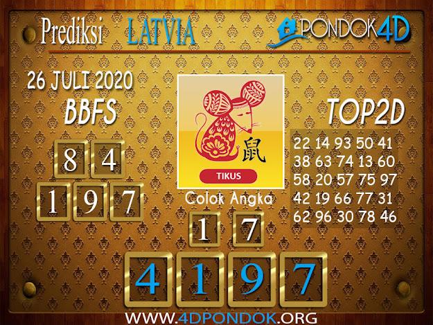 Prediksi Togel LATVIA POOLS PONDOK4D 26 JULI 2020
