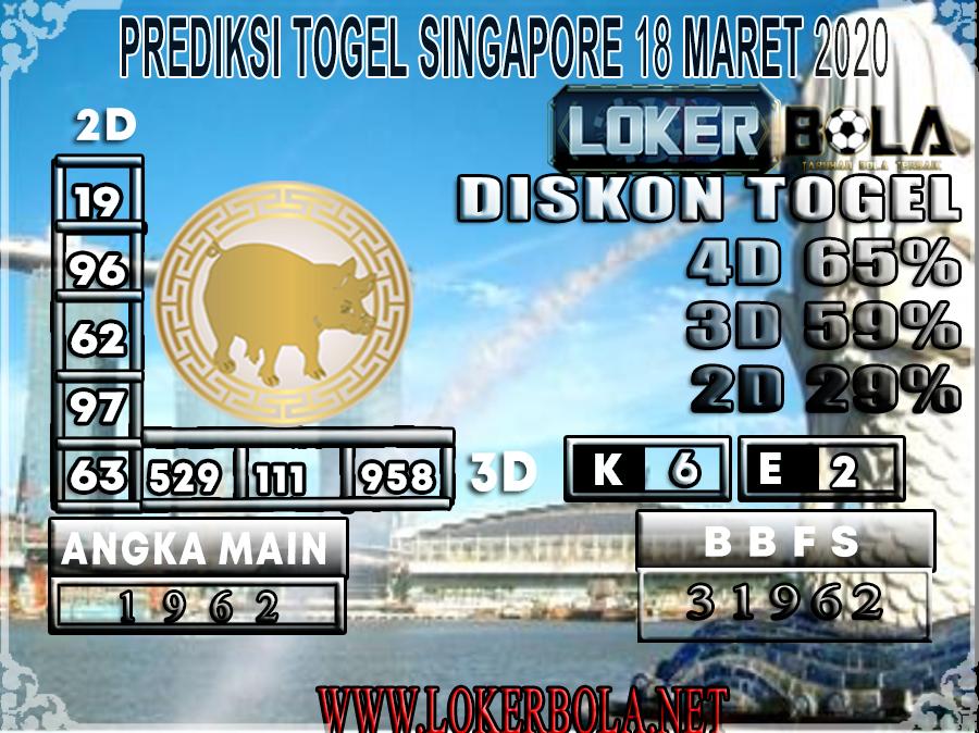 PREDIKSI TOGEL SINGAPORE LOKERBOLA 18 MARET 2020