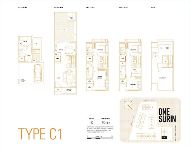 One Surin Type C1 Floor Plan