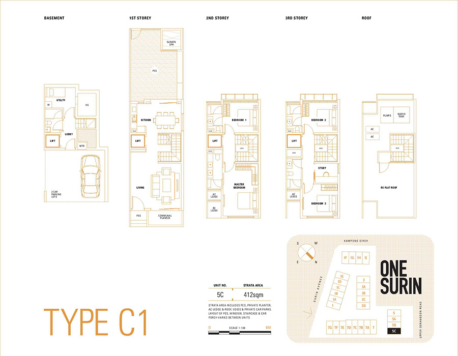One Surin Floor Plan Type C1