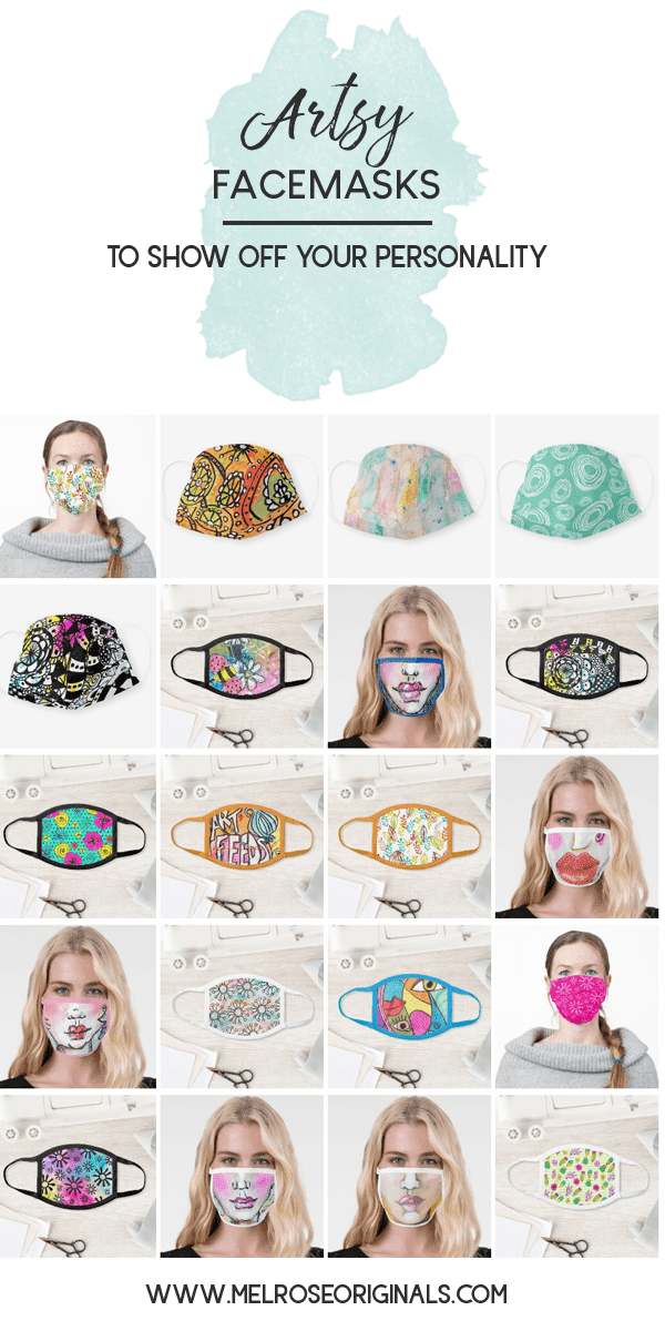 fun artsy face masks for everyday from Melrose Originals
