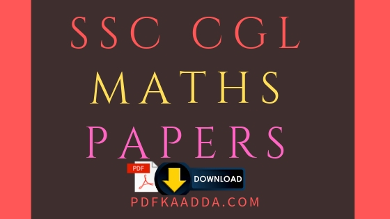 MATHS PRACTICE SET FOR SSC CGL BOOK PDF DOWNLOAD