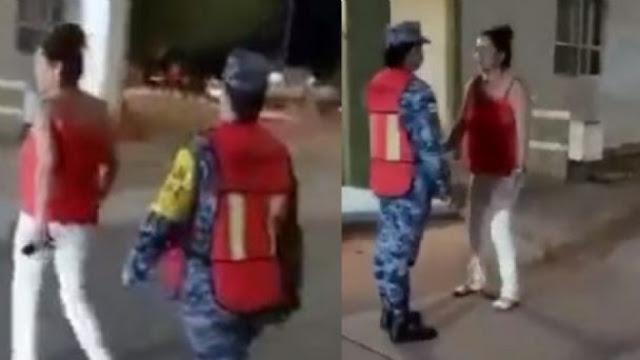 Video: Mujer se pone bien salsa y da un tremendo cachetadon a una Militar; se aprovecho de que estaba embarazada y no podía hacerle nada