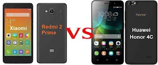 Kedua ponsel ini memiliki rentang atau kisaran harga yang sama adalah Rp Xiaomi Redmi 2 Prime VS Huawei Honor 4C