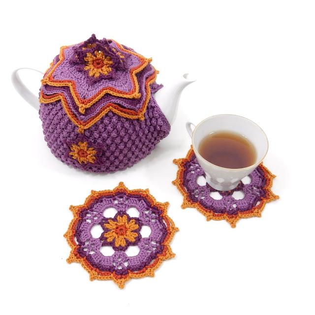 free crochet pattern coaster tea cosy thecuriocraftsroom the curio crafts room