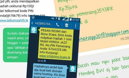 Ketika Blogger Dapat SMS Berhadiah dari Anonym