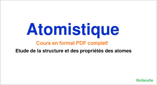 Atomistique cours PDF