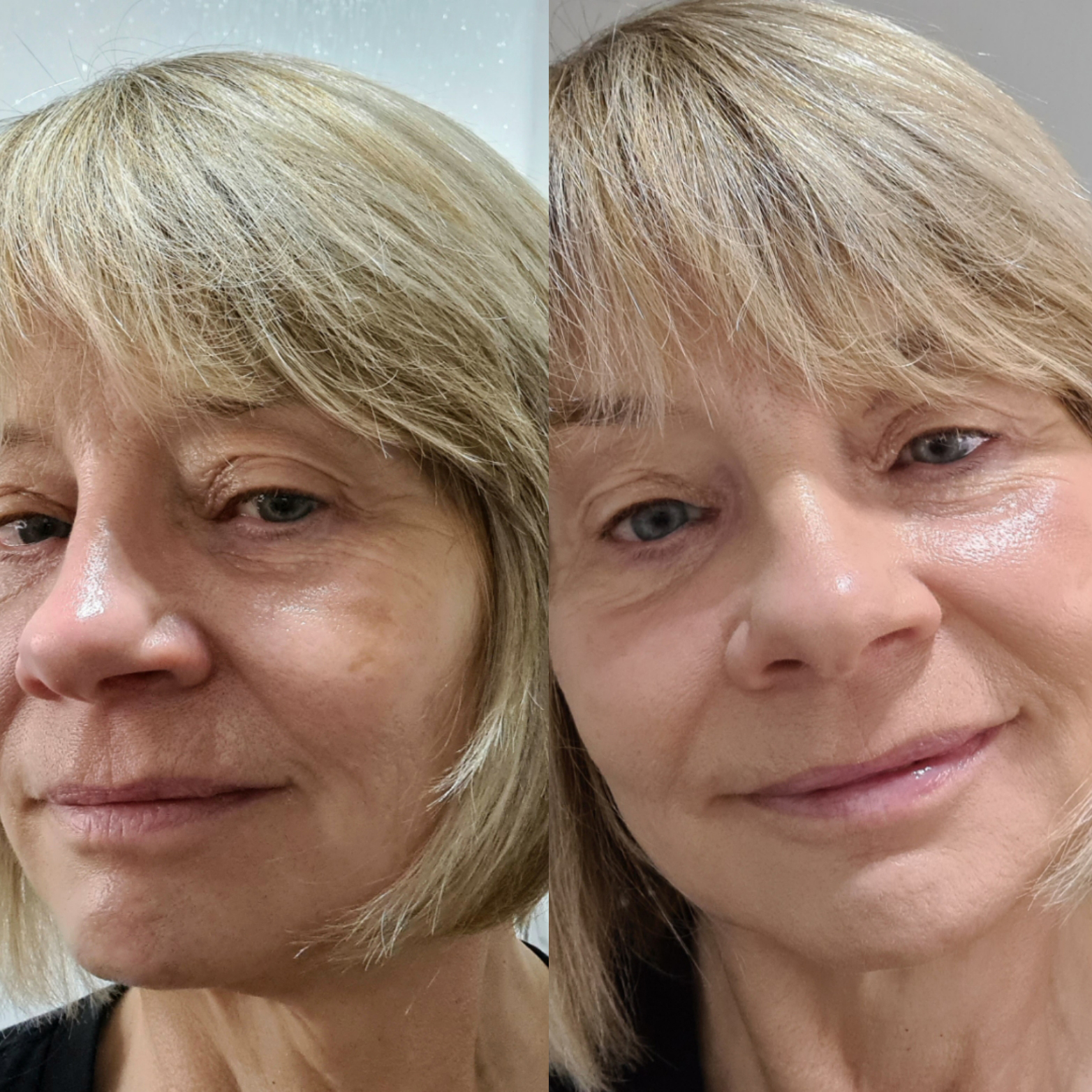 Before and after: using just three make-up products can make all the difference as over-50s style and beauty blogger Gail Hanlon, from Is This Mutton, demonstrates