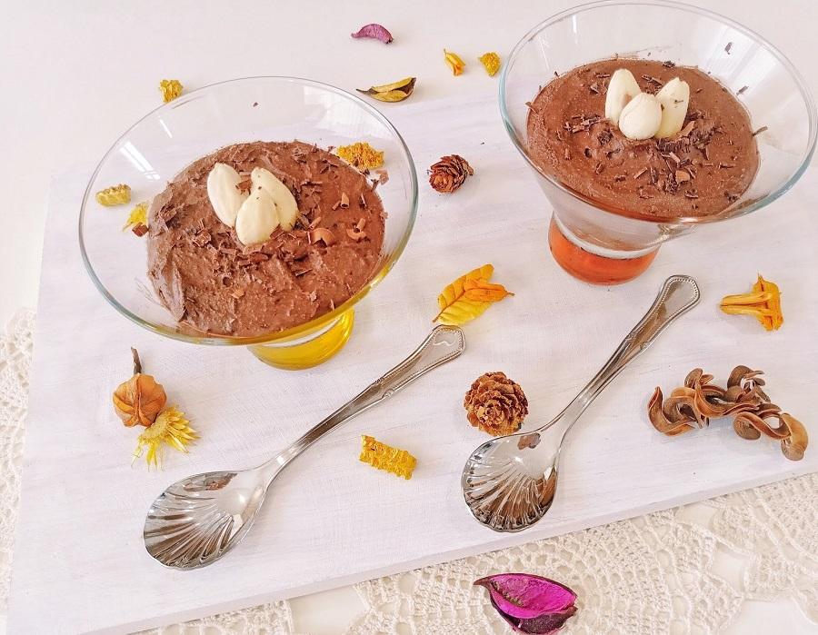 Mousse de chocolate de 4 ingredientes