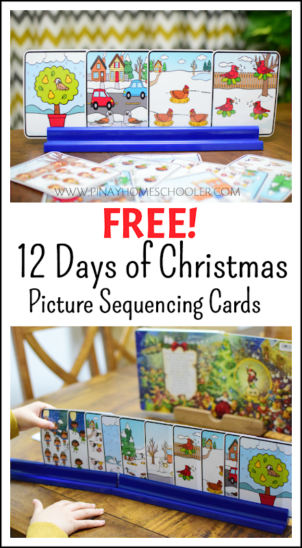 FREE Twelve Days of Christmas Picture Sequencing Cards