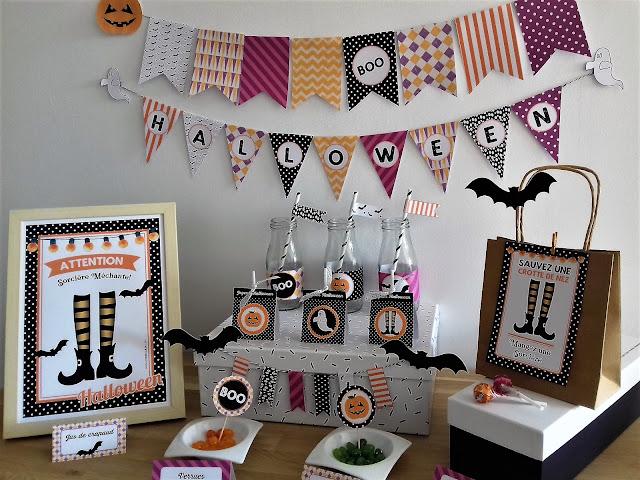 Kit organisation fête halloween enfants à imprimer tête de coucou