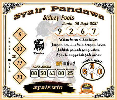 Syair Pandawa SDY 06 September 2021