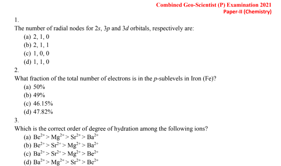 UPSC geo scientist previous year question papers