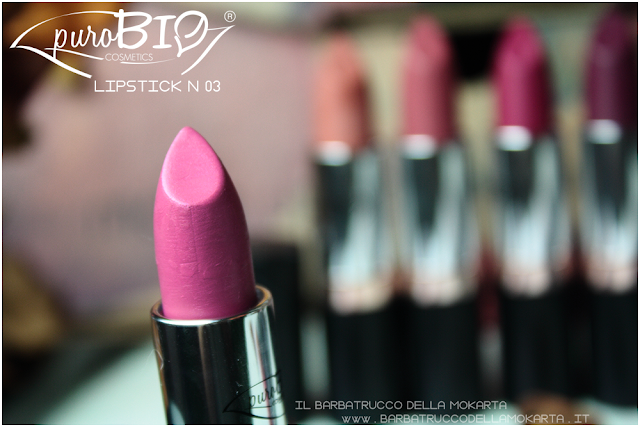 lipstick n 03 ,  rossetti purobio , lipstick, vegan makeup, bio makeup