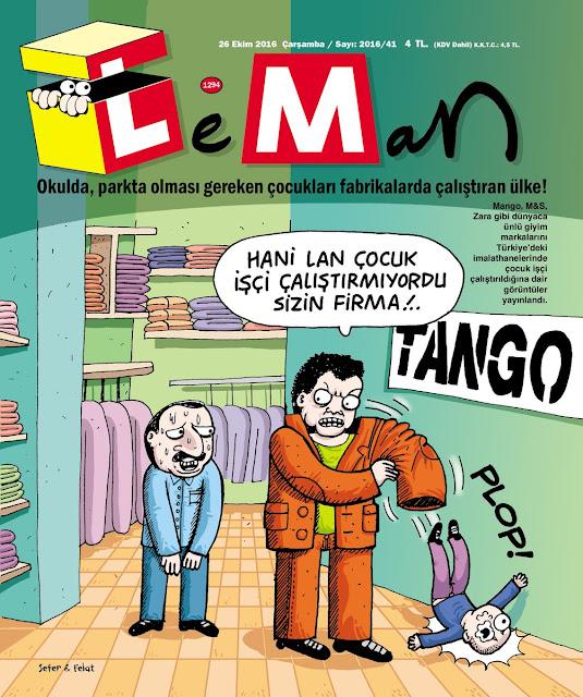 Leman Dergisi | 26 Ekim 2016 Kapak Karikatürü