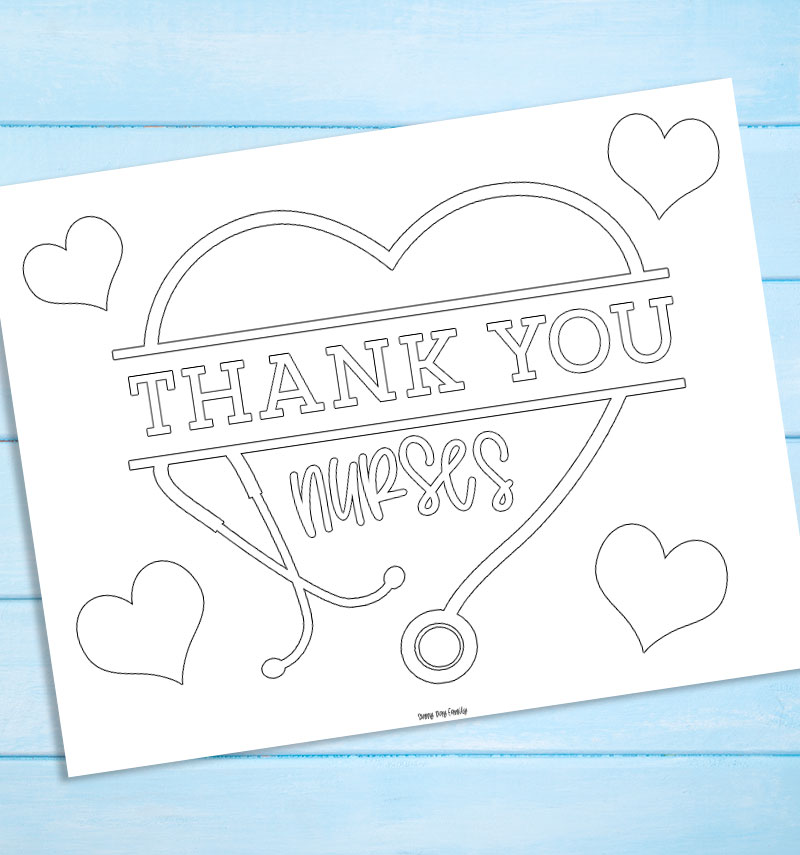 - Free Printable Thank You Nurses Coloring Page Sunny Day Family