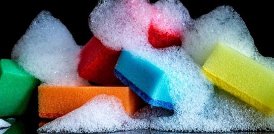 губки кухонные разноцветные